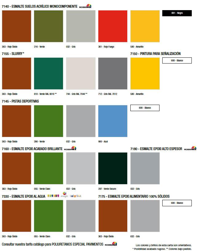 Cartas de colores for Pinturas bruguer colores