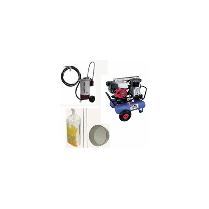 Arenadora de precisión 30 litros + compresor 3 cv